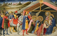 The Adoration of the Magi painting reproduction, Sano di Pietro