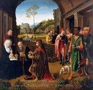The Adoration of the Magi painting reproduction, Gerard David