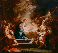 The Adoration of the Shepherds painting reproduction, Sebastiano Conca