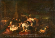 The Adoration of the Shepherds painting reproduction, Jacopo Bassano