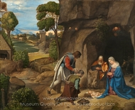 The Adoration of the Shepherds painting reproduction, Giorgione
