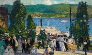 The Albany Boat painting reproduction, Gifford Beal