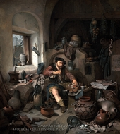 The Alchemist painting reproduction, Cornelis Bega