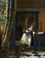 The Allegory of Faith painting reproduction, Jan Vermeer