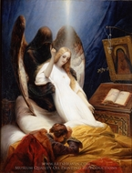 The Angel of Death painting reproduction, Horace Vernet