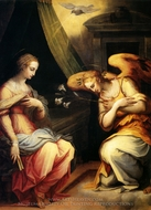 The Annunciation painting reproduction, Giorgio Vasari