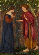 The Annunciation painting reproduction, Edward Burne-Jones