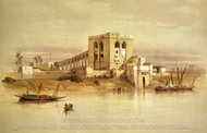 The Aqueduct of the Nile painting reproduction, David Roberts