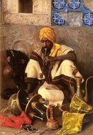 The Arab Smoker painting reproduction, Jean Discart