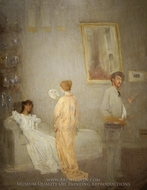 The Artist in His Studio painting reproduction, James McNeill Whistler