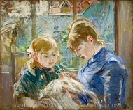 The Artist's Daughter, Julie, with her Nanny painting reproduction, Berthe Morisot