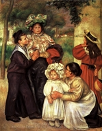 The Artist's Family painting reproduction, Pierre-Auguste Renoir