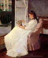 The Artist's Sister at a Window painting reproduction, Berthe Morisot