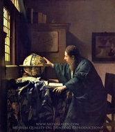 The Astronomer painting reproduction, Jan Vermeer