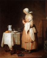 The Attentive Nurse painting reproduction, Jean Simeon Chardin