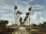 The Avenue at Middleharnis painting reproduction, Meindert Hobbema