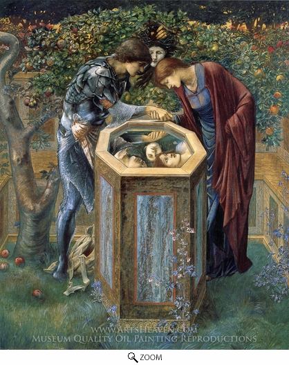 Edward Burne-Jones, The Baleful Head oil painting reproduction