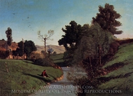 The Banks of the Aiguebrun painting reproduction, Paul-Camille Guigou