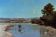 The Banks of the Durance at Puivert painting reproduction, Paul-Camille Guigou
