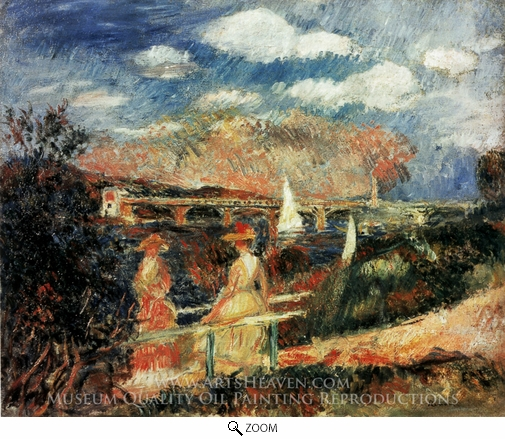 Pierre-Auguste Renoir, The Banks of the Seine at Argenteuil oil painting reproduction
