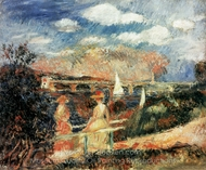 The Banks of the Seine at Argenteuil painting reproduction, Pierre-Auguste Renoir