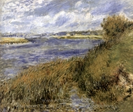 The Banks of the Seine at Champrosay painting reproduction, Pierre-Auguste Renoir