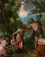 The Baptism of Christ painting reproduction, Paolo Veronese