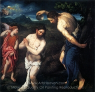 The Baptism of Christ painting reproduction, Paris Bordone