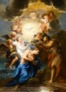 The Baptism of Christ painting reproduction, Charles Antoine Coypel
