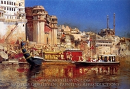 The Barge of the Maharaja of Benares painting reproduction, Edwin Lord Weeks