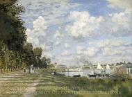 The Basin at Argenteuil painting reproduction, Claude Monet