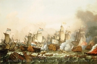 The Battle of Barfleur, 19 May 1692 painting reproduction, Ludolf Backhuysen