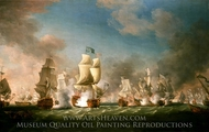 The Battle of Cape Passaro, 11 August 1718 painting reproduction, Richard Paton