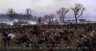 The Battle of Fredericksburg, December 13, 1862 painting reproduction, Carl Rochling