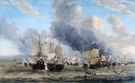 The Battle of Livorno painting reproduction, Reinier Nooms