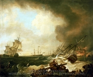 The Battle of Quiberon Bay, 21 November 1758, the Day After painting reproduction, Richard Wright