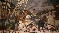 The Battle of San Romano painting reproduction, Paolo Uccello