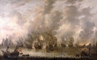 The Battle of Scheveningen 31 July 1653 painting reproduction, Jan Abrahamsz Beerstraaten