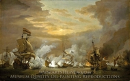 The Battle of the Texel, 11-21 August 1673 painting reproduction, Willem Van De Velde