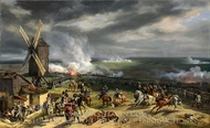 The Battle of Valmy painting reproduction, Horace Vernet