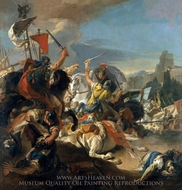 The Battle of Vercellae painting reproduction, Giovanni Battista Tiepolo