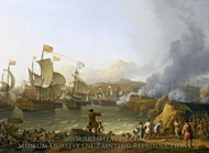 The Battle of Vigo Bay, 12 October 1702 painting reproduction, Ludolf Backhuysen