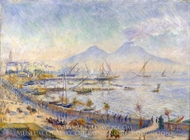 The Bay of Naples painting reproduction, Pierre-Auguste Renoir