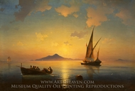 The Bay of Naples painting reproduction, Ivan Aivazovskiy
