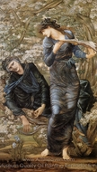The Beguiling of Merlin painting reproduction, Edward Burne-Jones