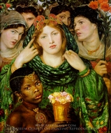 The Beloved painting reproduction, Dante Gabriel Rossetti