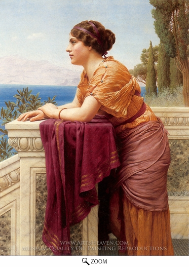 John William Godward, The Belvedere oil painting reproduction
