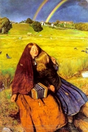 The Blind Girl painting reproduction, John Everett Millais