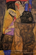 The Blind I painting reproduction, Egon Schiele