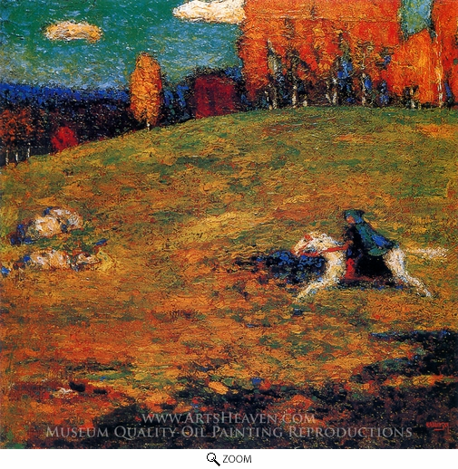 Wassily Kandinsky, The Blue Horseman oil painting reproduction